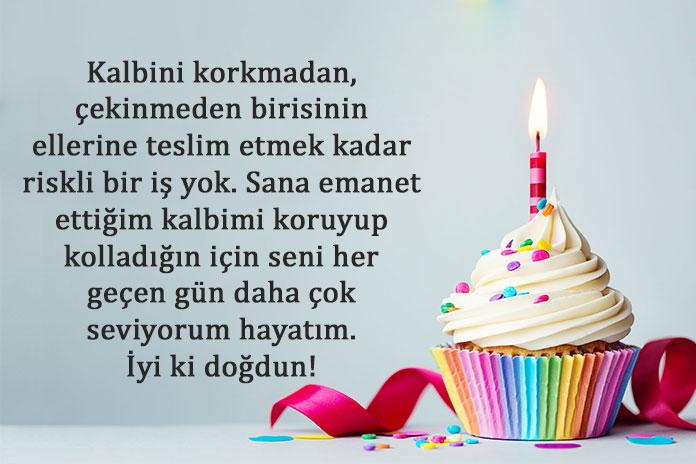 doğum günü pasta yazıları romantik