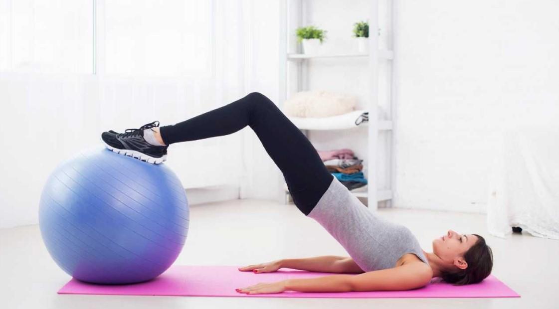 pilates topu hareketleri