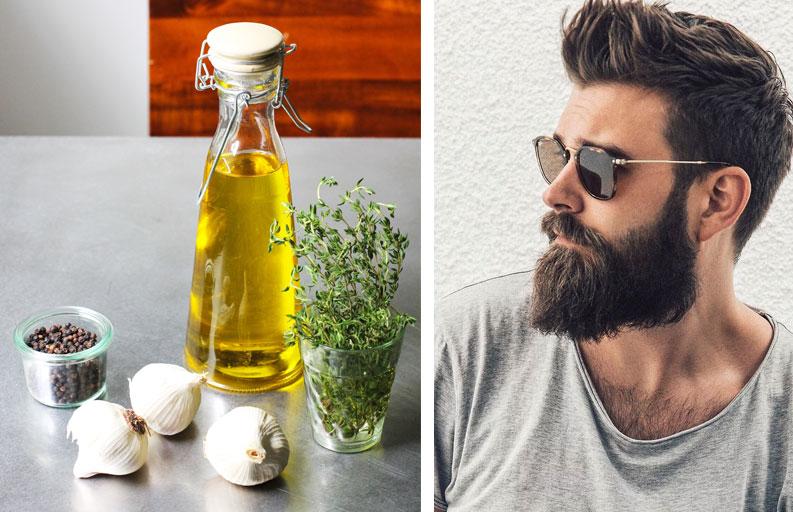 sarımsak yağı sakal